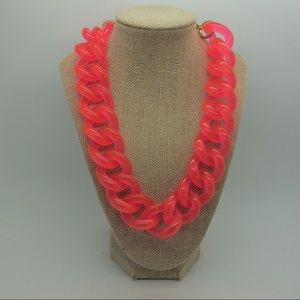 J. Crew Chunky Pink Chain Necklace